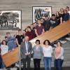 Teilnehmer des Schüleraustausches Szolnok und Dr. Werner Ströbele