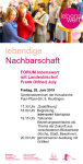 Plakat Forum lebenswert 2019