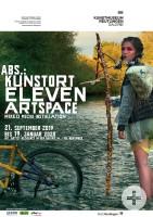 Plakat zur Ausstellung: Abs.: kunstort ELEVEN artspace