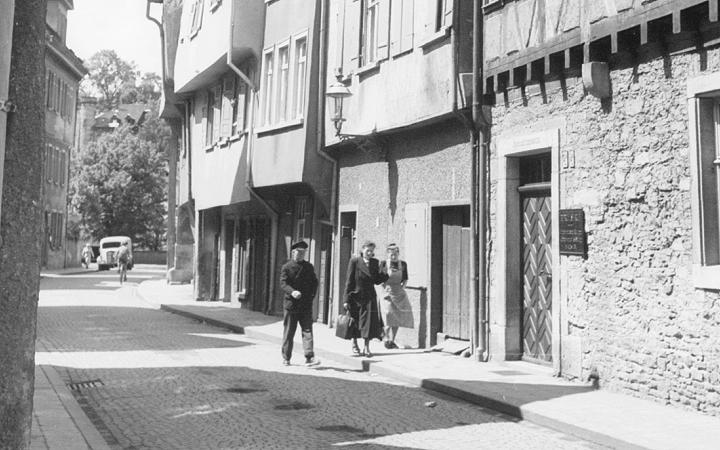 Oberamteistraße im Jahr 1951 - Fotograf Näher