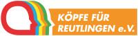 Das Logo der Köpfe für Reutlingen zeigt fünf schematische Umrisse von Köpfen in Rot, Blau, Gelb, Orange und Grün.