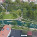 Visualisierung Entwicklungskonzept Echaz in Betzingen im Bereich Gaasgarten