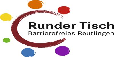 Zu sehen ist das Logo vom Runden Tisch Barrierefreies Reutlingen.