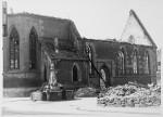 Beim Einmarsch der Franzosen zerstörte Nikolaikirche, 1945, Stadtarchiv Reutlingen