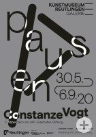 """Plakat zur Ausstellung """"pausen. Constanze Vogt. 17. Stipendiatin der HAP-Grieshaber-Stiftung"""""""