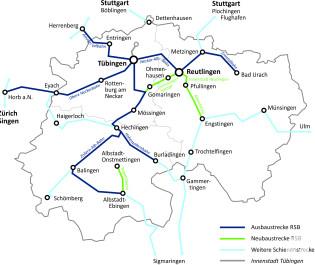 Bestehendes und geplantes Streckennetz - Stand 2018