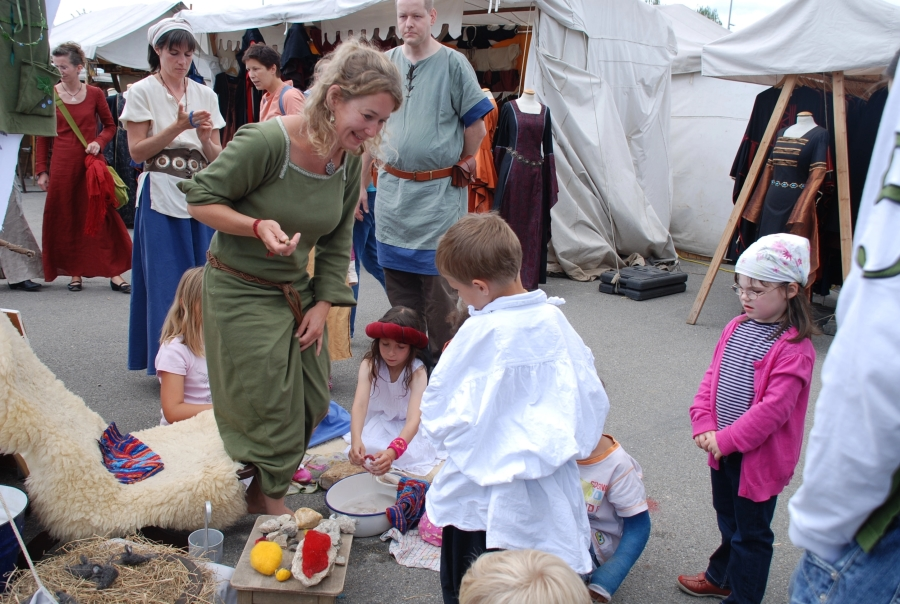 Mittelaltermarkt im Rahmen des Schwörtags