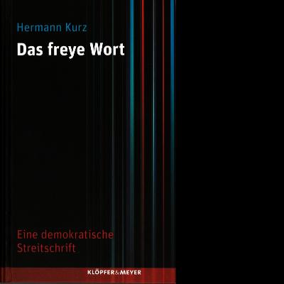Das Katalogcover ist schlicht in Schwarz gehalten. Auf der rechten Seite sind vertikale Streifen in Rot und Blau zu sehen.