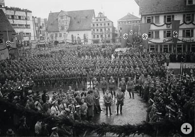 Einzug des III. Infanterieregiments 35 im Jahr 1936.