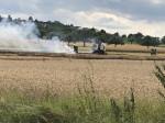 Am 28.07.2020 kam es während Erntearbeiten zu einem Flächenbrand auf einem Feld in Oferdingen. Keine Personen wurden verletzt.