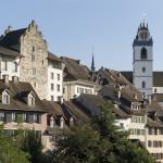 Stadtansicht Aarau mit Kirchturm