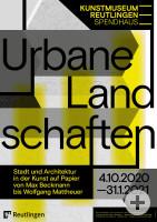 Ausstellungsplakat Urbane Landschaften.
