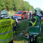 Schwerer Verkehrsunfall auf der L 383 Höhe Hofgut Alteburg Person eingeklemmt 18. September 2020 um 10:35 Uhr