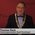 Oberbürgermeister Thomas Keck bei seiner Neujahrsansprache