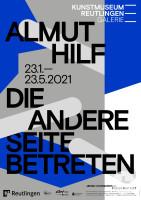 """Ausstellungsplakat """"Almut Hilf. Die andere Seite betreten"""". Gestaltung: Studio Pandan"""