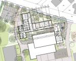 Mensa- und Betreuungsbereich der Grundschule Rommelsbach - Plan des Erdgeschosses