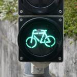 Eine grüne Fahrrad-Ampel