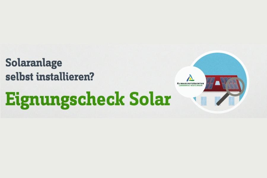 Eignungscheck Solar der Klimaschutzagentur