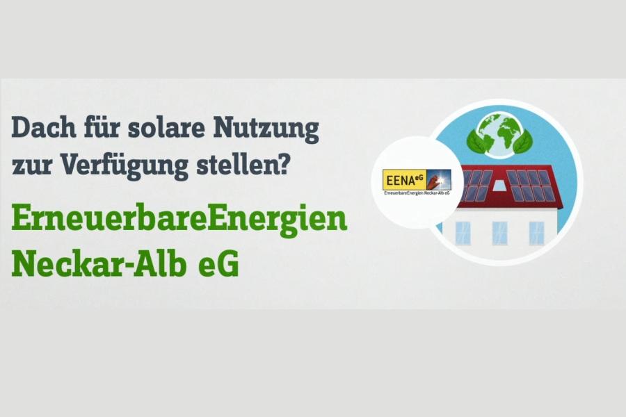 """Der """"ErneuerbarenEnegien Neckar-Alb eG"""" können Sie Ihr Dach für solare Nutzung zur Verfügung stellen"""
