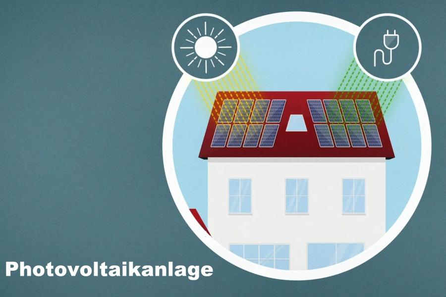 "Grafik zum Thema ""Photovoltaikanlage"""