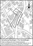 Geltungsbereich Veränderungssperre Reutlinger Straße 26/28/30