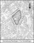 Geltungsbereich Bebauungsplan Reutlinger Straße/In Scherrengärten/Kurze Straße