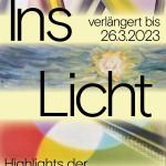 Plakat zur Ausstellung Ins Licht. Highlights der Gemäldesammlung, Kunstmuseum Reutlingen Spendhaus, 2021.