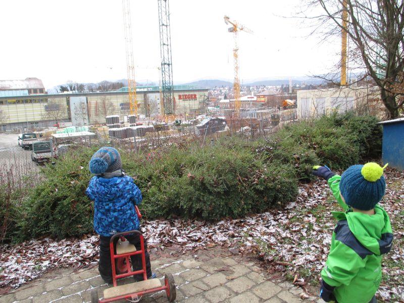 Bauphase Städtisches Kinderhaus Alice-Haarburger-Straße Oktober 2018