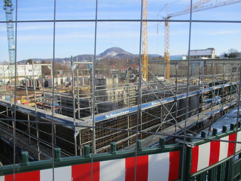 Bauphase Städtisches Kinderhaus Alice-Haarburger-Straße Februar 2019