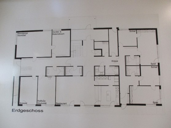 Städtisches Kinderhaus Aachener Straße - Grundriss Erdgeschoss