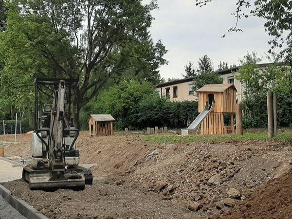 Bauphase Juli 2020 - Gartenbau des Städtischen Kinderhauses Aachener Straße