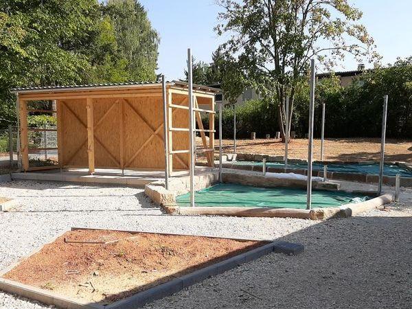 Bauphase Juli 2020 - Gartengestaltung des Städtischen Kinderhauses Aachener Straße