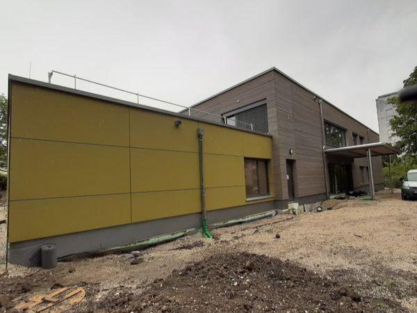 Bauphase Juni 2020 - Außenansicht des Städtischen Kinderhauses Aachener Straße