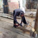 Alle ausgebauten Fachwerkhölzer wurden gemeinsam mit dem Zimmerer und dem Bauforscher begutachtet und sortiert.