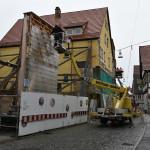 Das Fassadenmodell in der Oberamteistraße wurde abgebaut