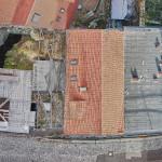 Ansicht von Oben auf das 3D-Modell des Häuser-Ensembles Oberamteistraße 28-34.