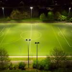 Nachherbild der Flutlichte auf der Carl-Diem-Sportanlage