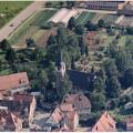 Kirchentellinsfurt, Kirche und Gärtnerei Nagel,  im Jahr 1968