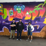 Aarauer Künstler vor ihrem Graffiti - Foto Stadt Reutlingen