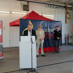 Oberbürgermeister Thomas Keck bei der Ansprache an die ehrenamtlichen Helfer in der Corona-Panndemie