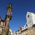 Der Marktbrunnen und der Spitalhof im Winter - Foto: Stadt Reutlingen