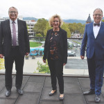 Von links: Erster Bürgermeister Robert, Baubürgermeisterin Angela Weiskopf und Oberbürgermeister Thomas Keck