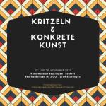 Plakat Kritzeln und Konkrete Kunst