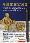 Alamannen zwischn Schwarzwald, Neckar und Donau - Plakat