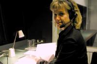 Karin Messmer beim Dolmetscheinsatz