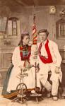 Betzinger Brautpaar um 1880, Fotograf Paul Sinner Tübingen
