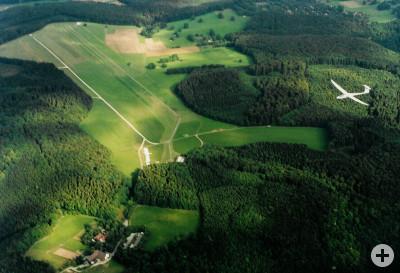 Flugplatz Uebersberg aus der Luft