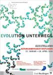 """Ausstellungsplakat """"Evolution unterwegs"""""""