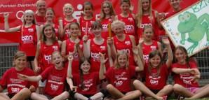 """Erfolgreiche """"Jugend trainiert Teams"""" (hier Landessieger BZN Mädchen im WK IV 2012) als Teil vielseitiger Sportaktivitäten"""