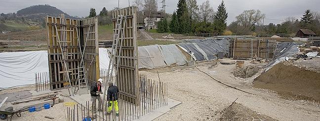 Bauarbeiten am Scheibengipfeltunnel